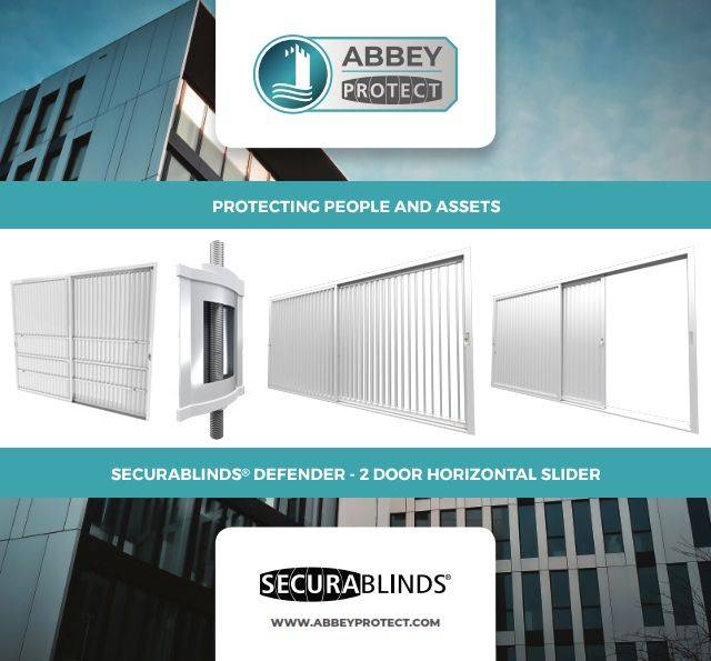 SECURABLINDS® Defender, 2 Door Horizontal Slider Security Blind with Transom Option - A12DS / A12DST