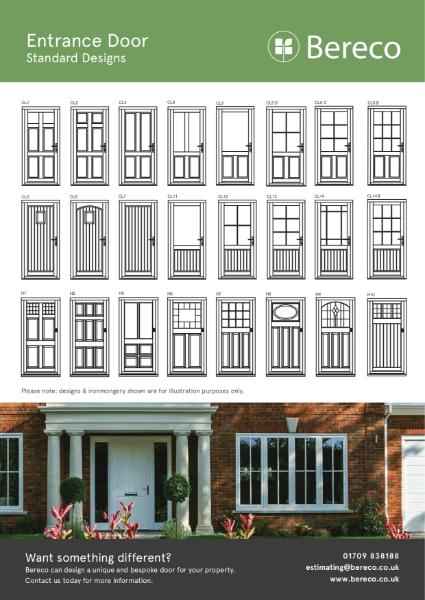 Bereco Standard Entrance Door Styles