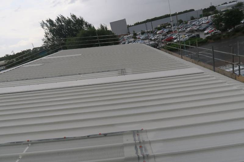 Metal Roof Coating Project using BBA Approved Metalseal 20 from Liquasil