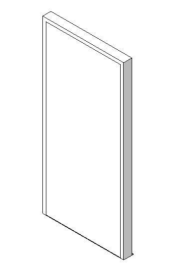 External Single Door, Blank Leaf