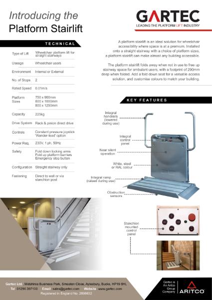 Gartec Platform Stairlift Information