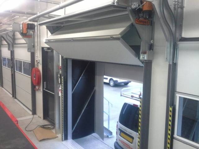 Insulated Compact Fold-up Doors