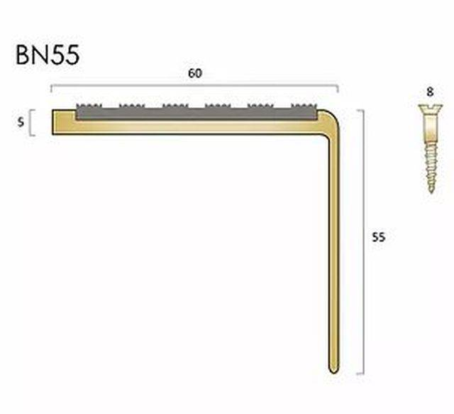 BN55 brass stair nosings