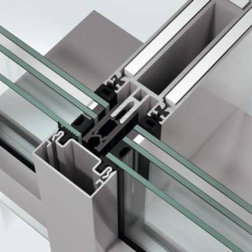 Fire-resistant stick curtain walling façade system - FW60+ BF