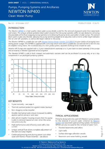 Newton NP400 Pump