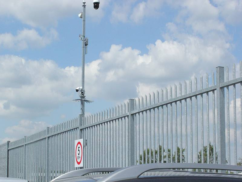 Vertical bar fencing replaces steel palisade to provide perimeter security for British Car Auctions