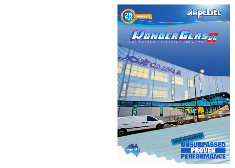 Wonderglas GC - gel coated polyester sheeting