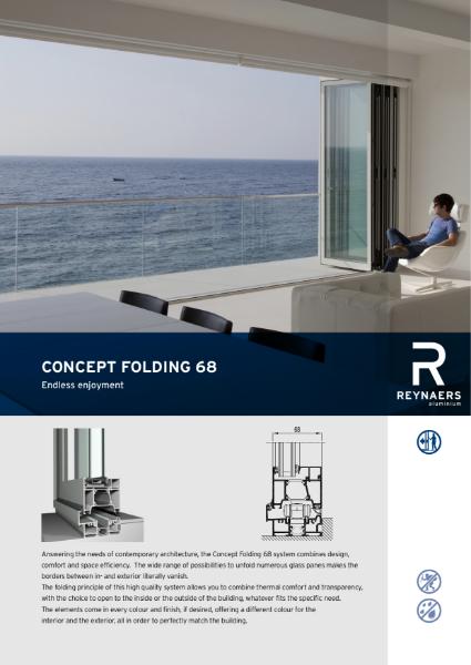 Aluminium Folding Door System - CF 68 Concept Folding System