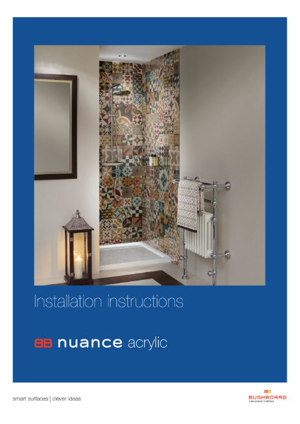 Nuance Acrylic Installation Guide