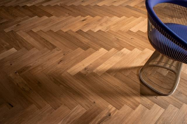 Atelier Collection - 90° Herringbone Engineered Hardwood Flooring