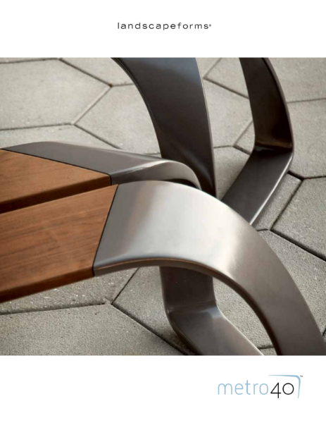Landscape Forms Metro40 Street Furniture Collection