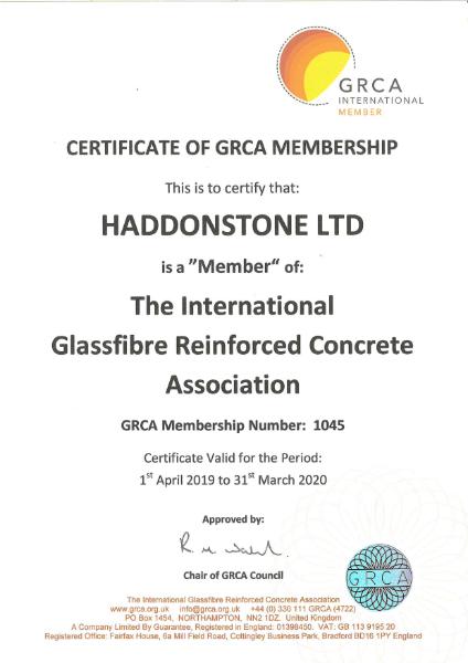 GRCA International Member certificate