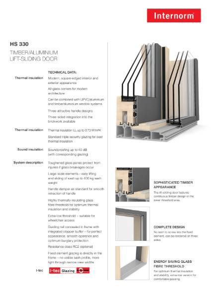 HS330 Lift slide door
