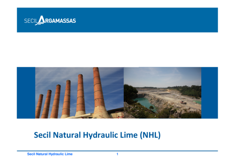 Secil Natural Hydraulic Lime Product Brochure