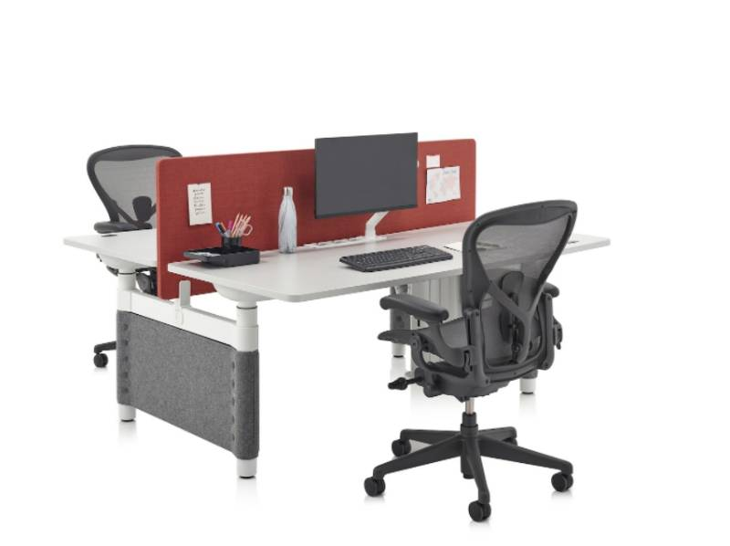 Atlas - Two Person, Side-by-Side Desk with Screen