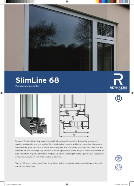 Aluminium Window System - SL 68 Slim Line