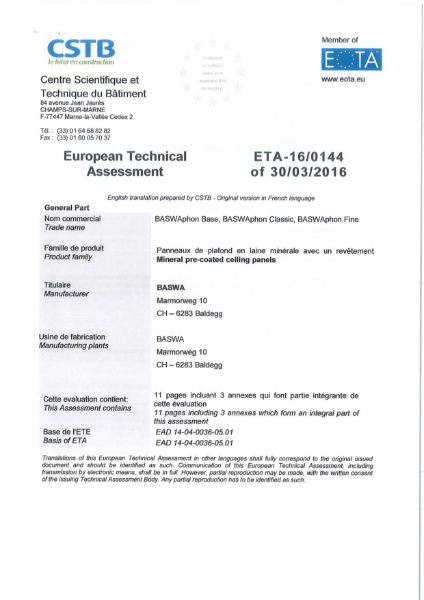 European Technical Assessment
