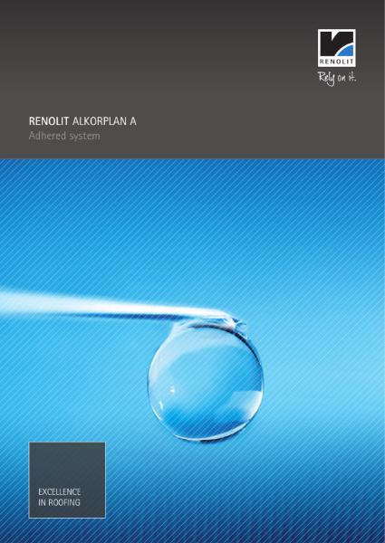 RENOLIT ALKORPLAN A waterproofing membrane single ply  Adhered System