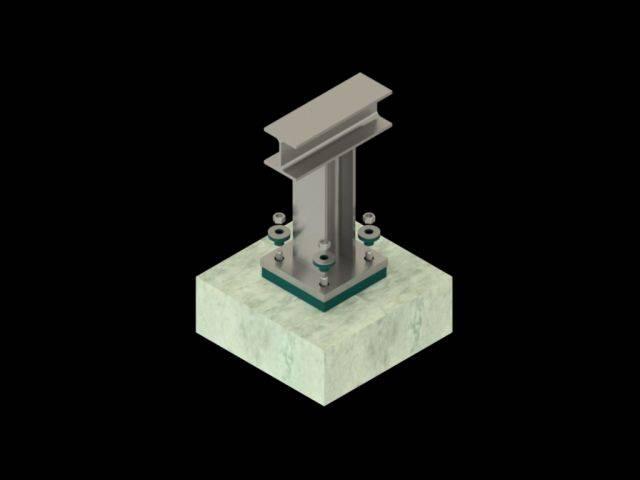 Steelwork Isolation System – Farrat CineSTEEL PRO