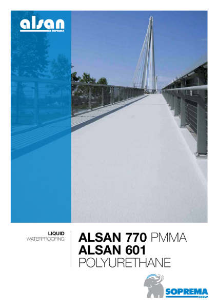 Alsan PMMA and PU Liquid Waterproofing Systems