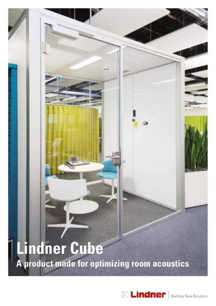 Lindner Cube - A product made for optimizing room acoustics