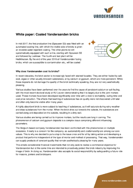 Vandersanden Coated Bricks Whitepaper