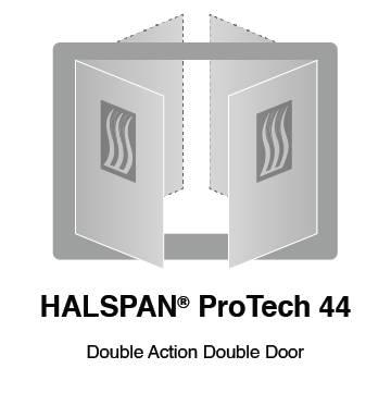 HALSPAN® ProTech 44m Interior Grade Door Blanks - Double Acting Double Doors
