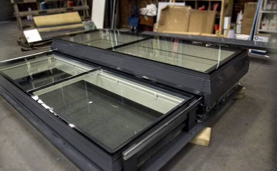 Glazed Sliding Roof Hatch - London
