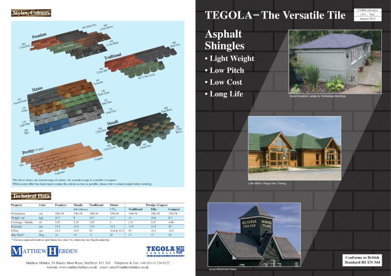 Tegola Asphalt Shingles