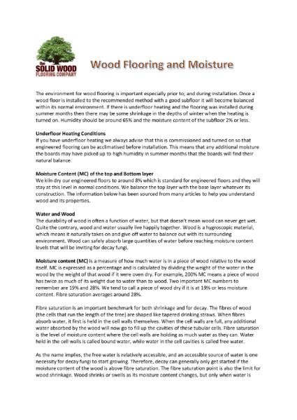 How moisture affects wood flooring