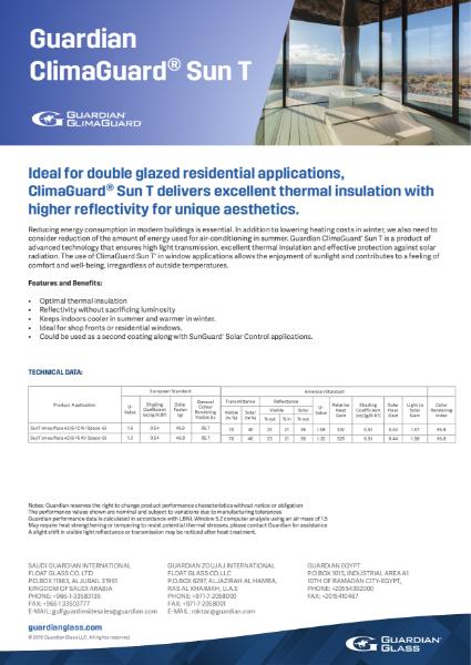 ClimaGuard® Product flyers - SunT Flyer