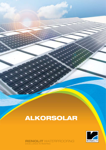 ALKORSOLAR waterproofing single ply  Brochure