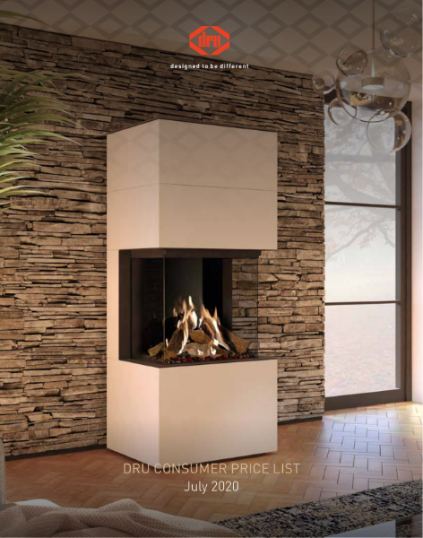 DRU gas fires and Global by DRU gas fires 2021 price list