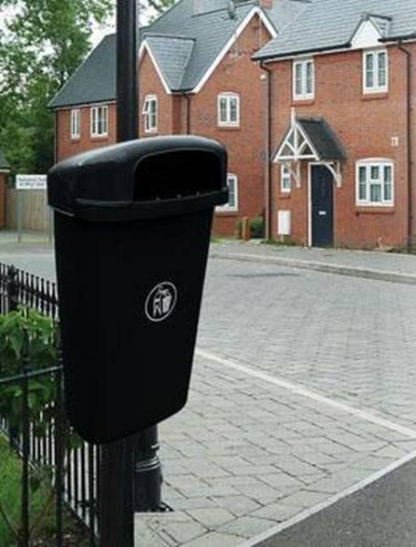 Regent 50L Post Mounted Litter Bin