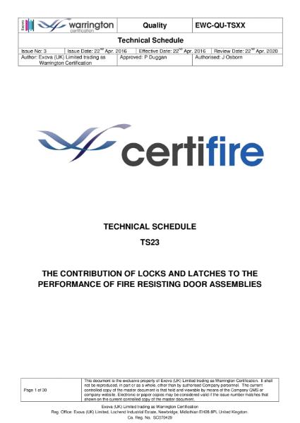 Certifire TS00