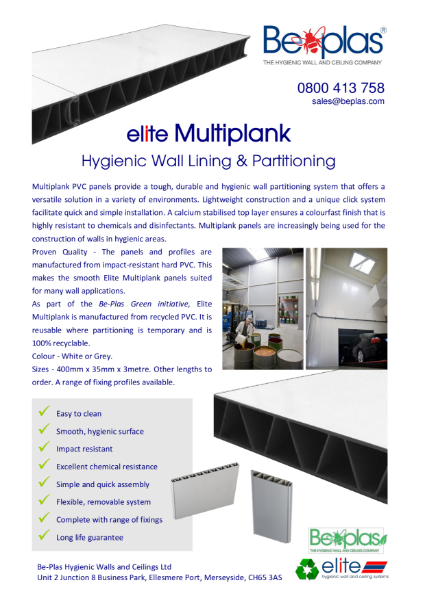 Beplas Multiplank Partitioning System