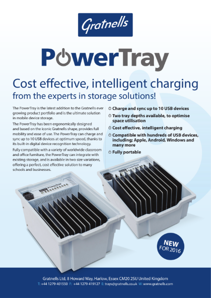 Gratnells PowerTray for usb charging