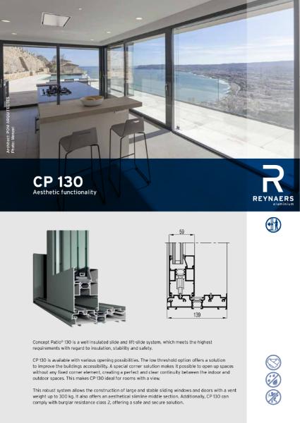 Aluminium Sliding Door System - CP 130