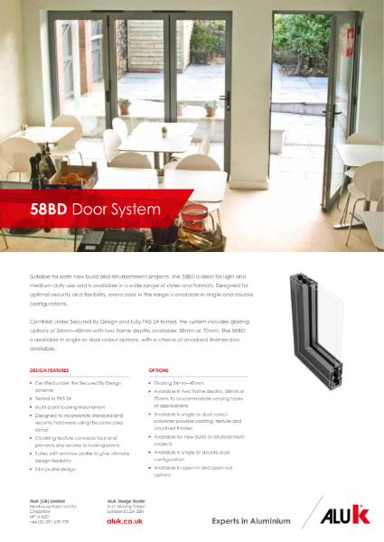 AluK 58BD Door System Datasheet