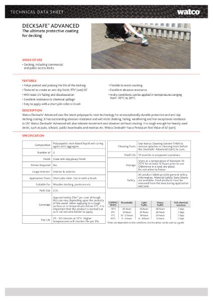 Data Sheet: Decksafe Advanced