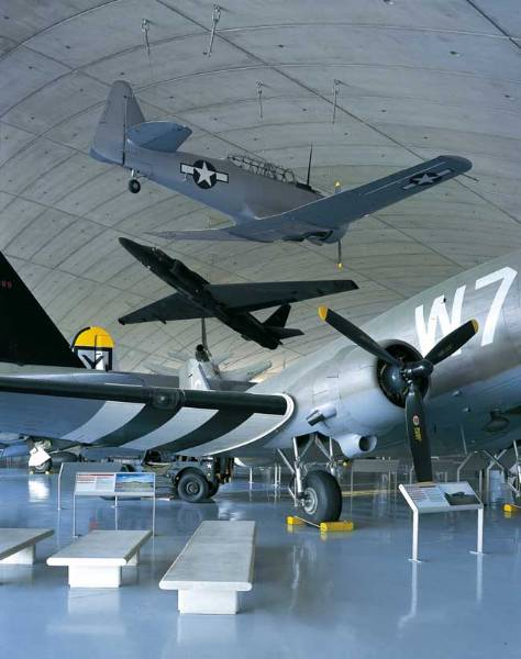 Bright UV stable floor coating installed at Duxford Air Museum to show off aviation exhibits at their very best