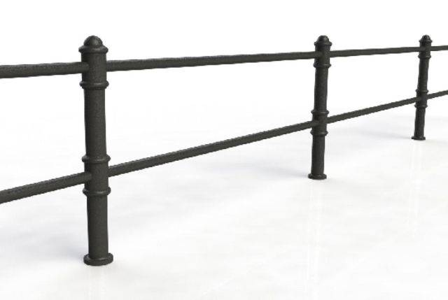 ASF Blenheim 2 Rail Cast Iron Post and Rail System