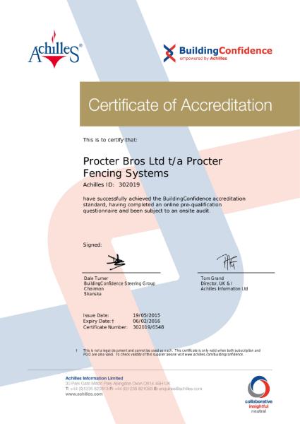 Building Confidence Certificate 2016