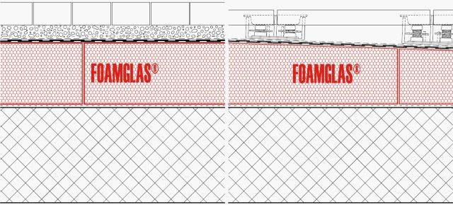 4.3.1 Roof: Flat or Tapered Insulation (Hot Adhesive) with Membranes and Paving or Blocks