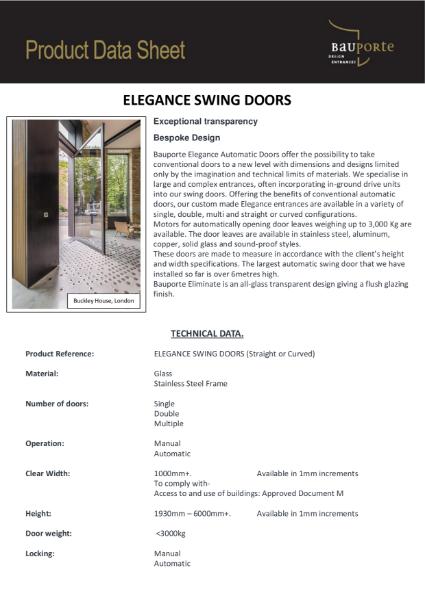 Bauporte Elegance Swing Doors