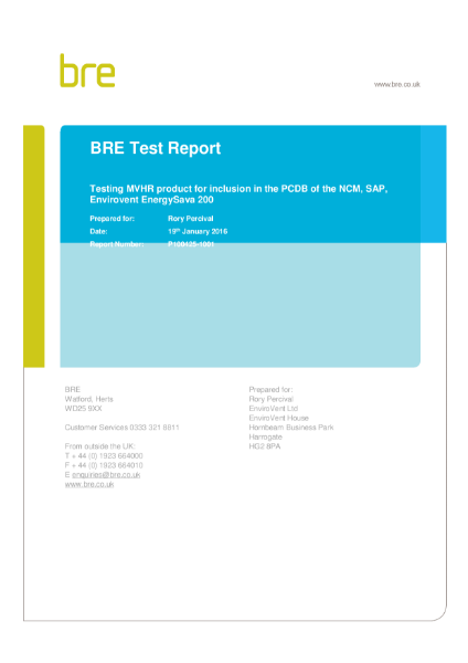 BRE Test Report