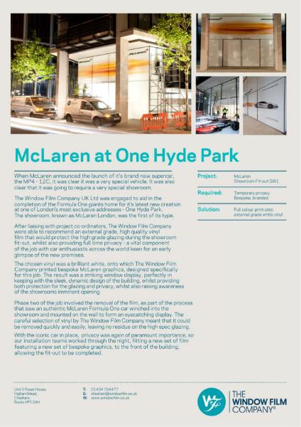 Case Study - McLaren Showroom