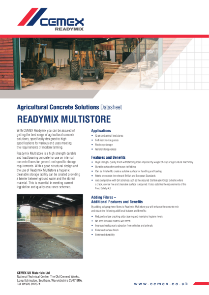 Multistore - Agricultural Concrete