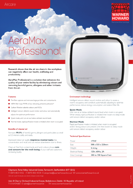 AeraMax Professional air cleaner
