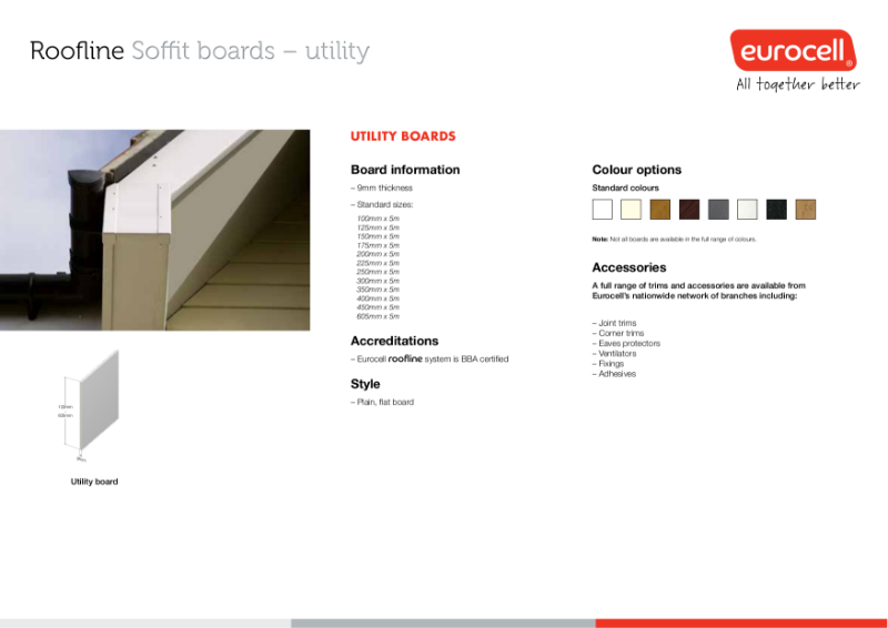 Roofline Utility Soffit Boards Product Specification
